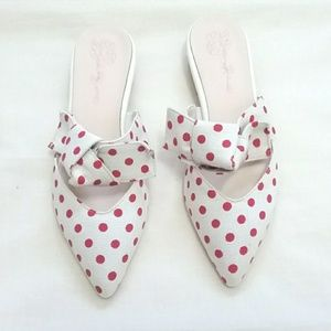 Shoes - Darla Red Polka Dot Mules